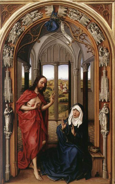 Van Der Weyden, Le Christ apparaît à la Vierge, Metropolitan Museum, NY
