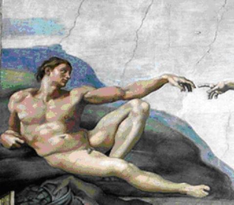 La création de l'homme, détail