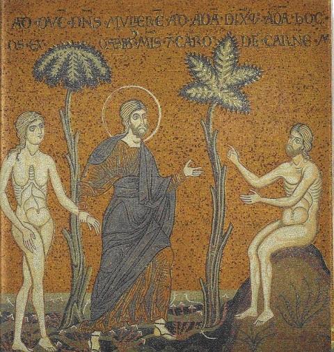 Monreale. Dieu présente Eve à Adam