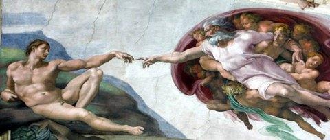 Le panneau de la Création de l'homme
