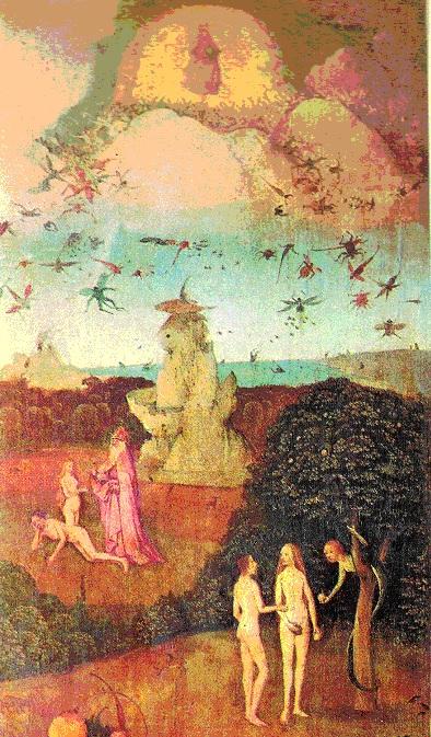 Bosch, Haut du volet gauche du Char de foin, Prado