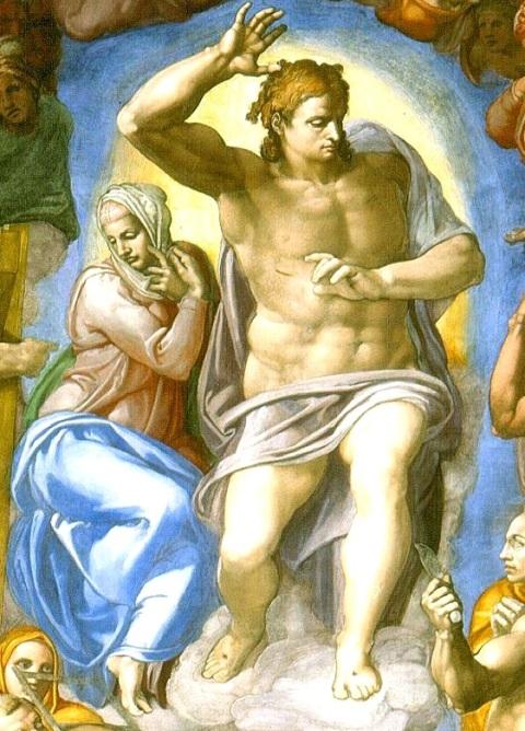 Last_Judgement_by_Michelangelo vierge